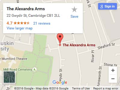 Alexandra Arms Map