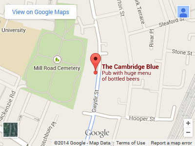 Cambridge Blue Map