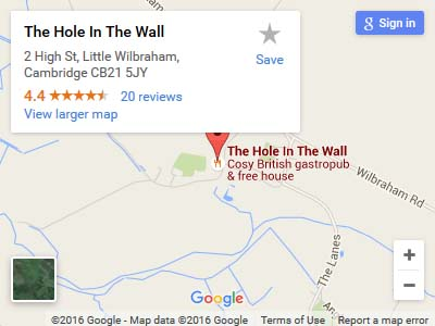 Hole in the Wall Map